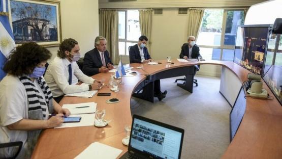 El Presidente dialoga con los gobernadores por la situación sanitaria
