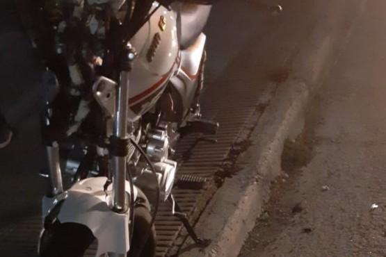 La moto fue secuestrada por Tránsito en la madrugada.