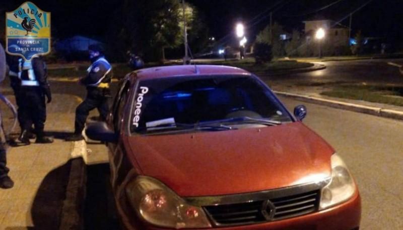Renault Symbol secuestrado.