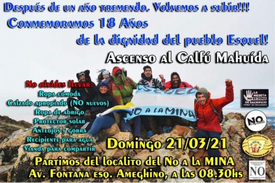 Vuelven a subir el Cerro Calfú Mahuida