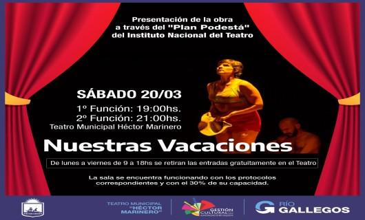 Agenda cultural en el teatro municipal de Río Gallegos