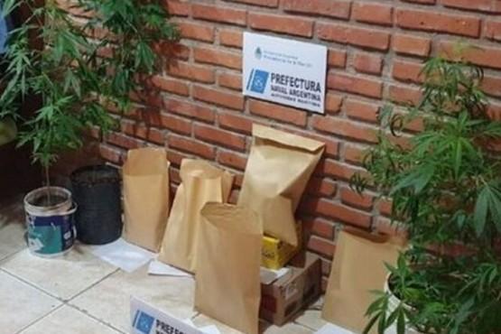 Algunos de los elementos secuestrados por Prefectura.