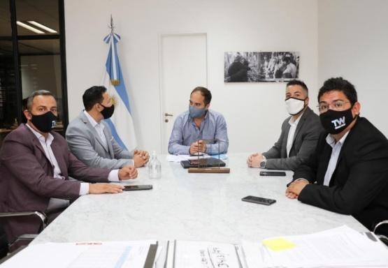 Gestionan más obras para Trelew ante Nación