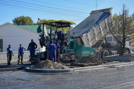 Obras en la avenida San Martín