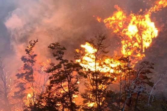 Incendio en una estancia a unos 100 km de Tres Lagos