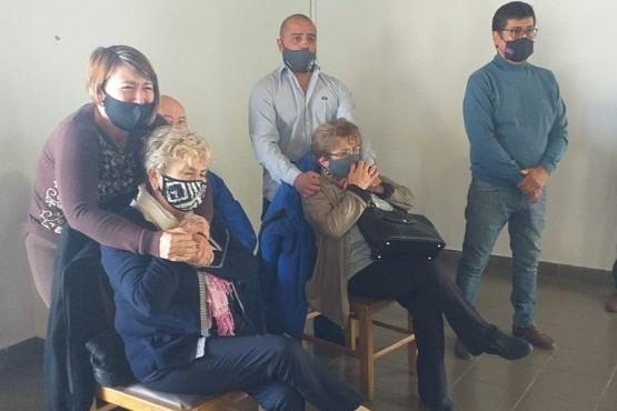 Familiares de Vicente Maíllo en la lectura de la sentencia (Foto: C.Robledo).