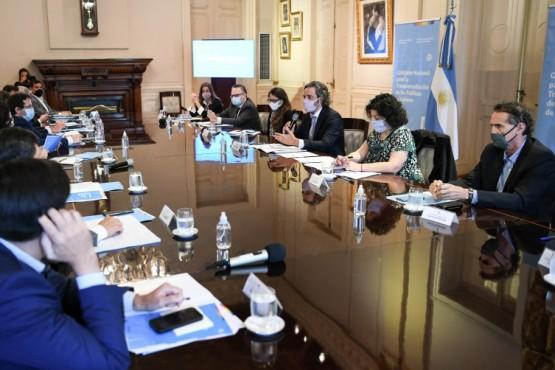El encuentro fue encabezado por el jefe de Gabinete de Ministros y Ministras de la Nación, Santiago Cafiero.