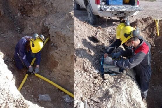 Se acerca el gas al barrio Parque Industrial de Pico Truncado