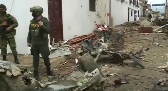 43 heridos por la explosión de un coche bomba en Colombia