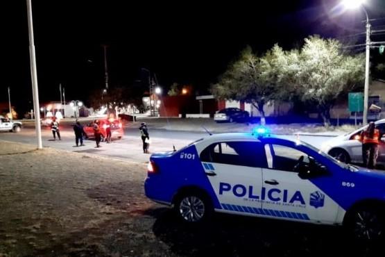 Operativo de control en Río Gallegos (foto Santa Cruz en el Mundo)