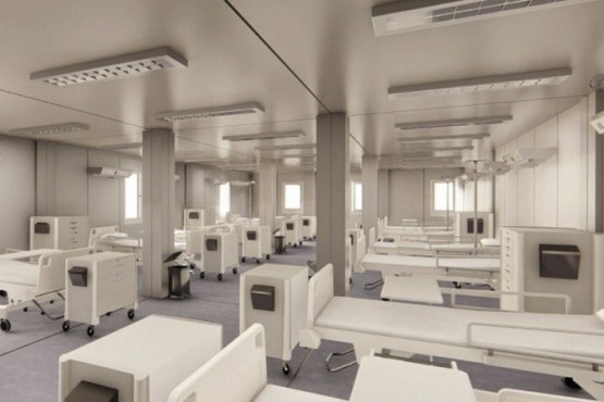 Hospitales modulares construidos en tiempo récord.
