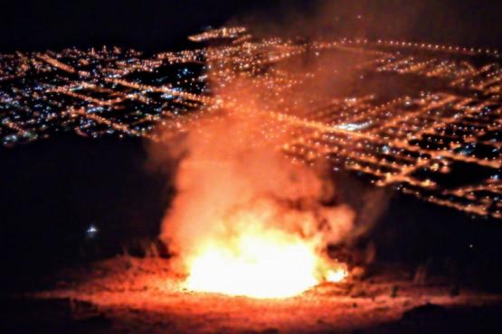Caída de rayos provocaron incendios cerca de Esquel