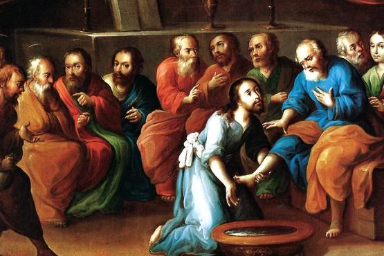 Cristo lavando los pies de sus discípulos, de José de la Mora.