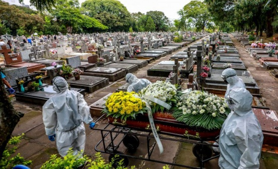 Récord de muertes por COVID: Un muerto cada 4 minutos en Río de Janeiro