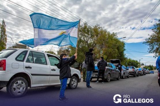 Caravana por Malvinas en Río Gallegos