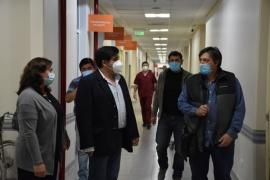 Claudio García visitó el SAMIC y el Hospital Formenti en El Calafate