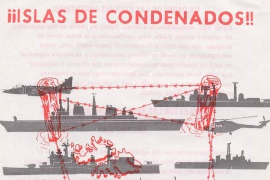 Mensaje elaborado por el GEP para las tropas argentinas en Malvinas. Ministerio de Defensa de Reino Unido.
