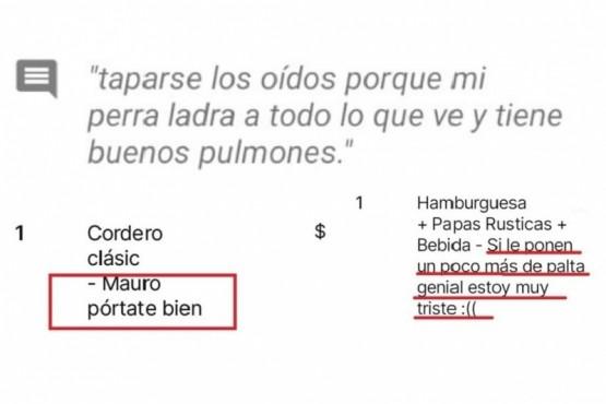 Algunas de las descripciones de PedidosYa.