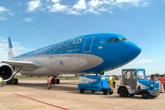 Vuelo de Aerolíneas Argentinas con un nuevo cargamento de vacunas Sputnik V