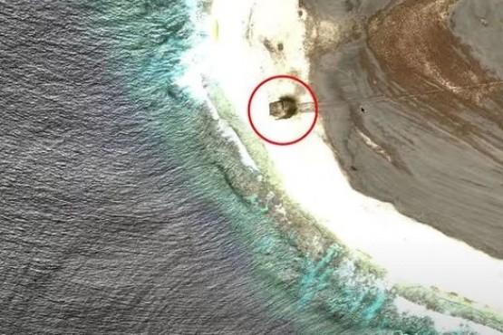 Navegaba por Google Maps y descubrió el monstruoso accidente de un OVNI