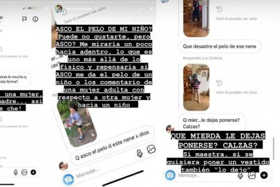 Juana Repetto se enfureció contra una seguidora por criticar el aspecto de su hijo Toribio