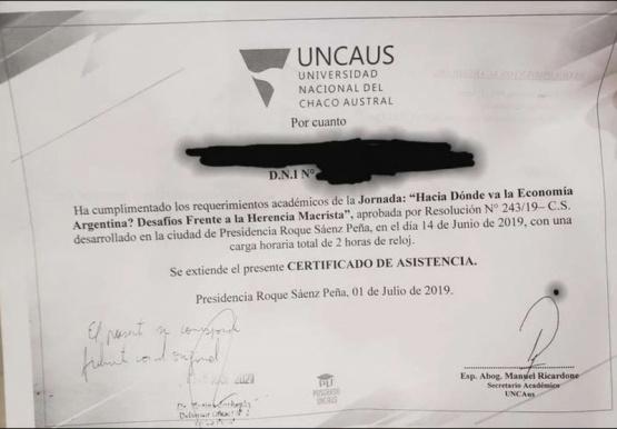 Certificado del Curso.