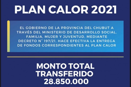 Plan Calor 2021 en Chubut