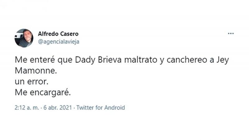 La publicación de Casero.