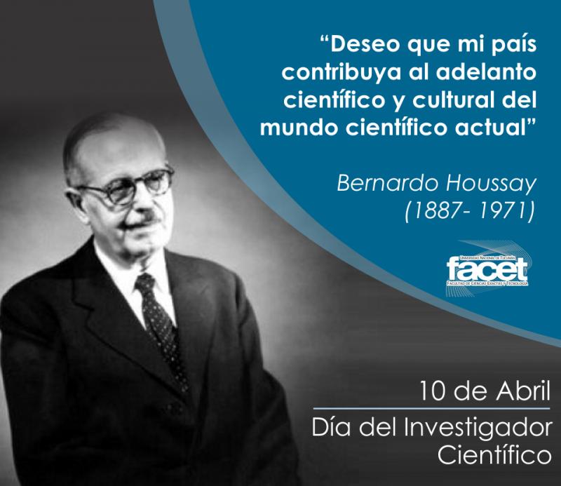 El 10 de abril es la fecha que nació Bernardo Houssay.
