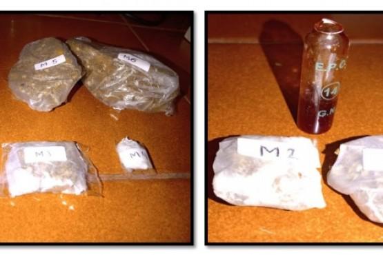 Encontraron marihuana en pequeñas cantidades y dos troqueles de LCD.