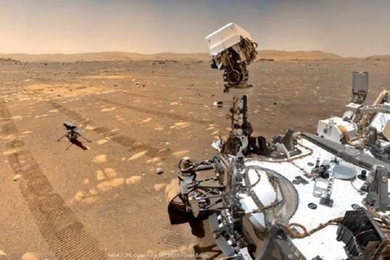 El helicóptero de la NASA transmitió imágenes de Marte