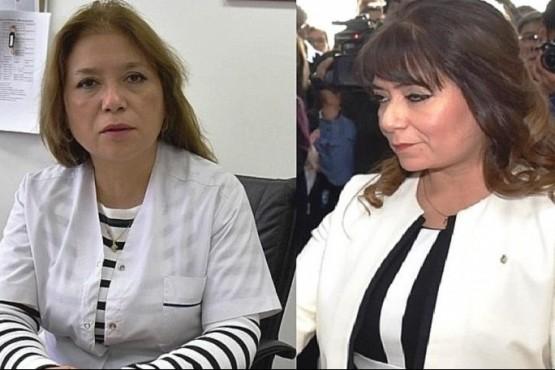 Patricia y Angélica Zari, ex directora del Hospital y ex jueza de Caleta Olivia