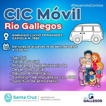 El CIC móvil llega al Gimnasio Municipal Lucho Fernández
