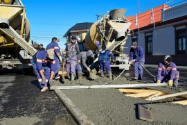Obras Públicas: diversas tareas en la ciudad durante el fin de semana en Río Gallegos