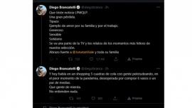 """La furiosa despedida de Diego Brancatelli a Mauro Viale: """"Hay gente de mierda"""""""