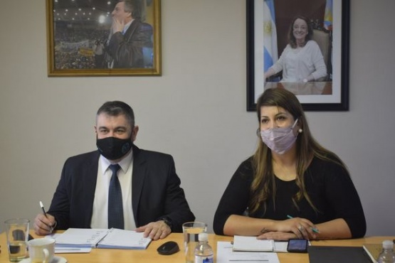 Pablo Canobra junto a Victoria Aguilar.