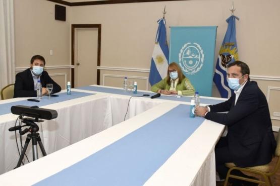 Alicia de manera virtual acompañó el encuentro realizado en Puerto San Julián.