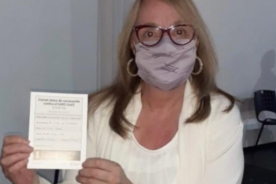 La gobernadora Alicia Kirchner se inoculó en el mes de marzo.