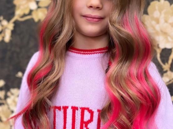 El pelo de hija de Wanda.