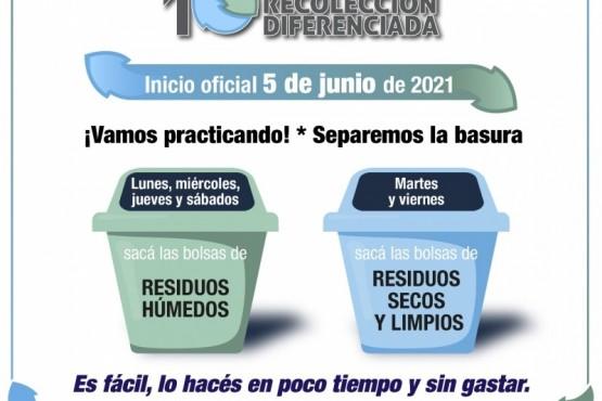 El 5 de junio comienza el programa Recolección diferenciada.