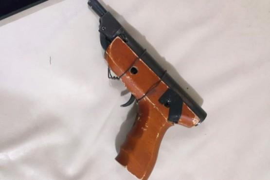 Arma de fuego de fabricación casera.