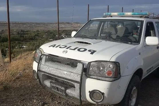 La policía en el lugar.
