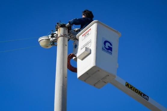 Municipio de Río Gallegos realiza recambio de luminaria en plazas y parques