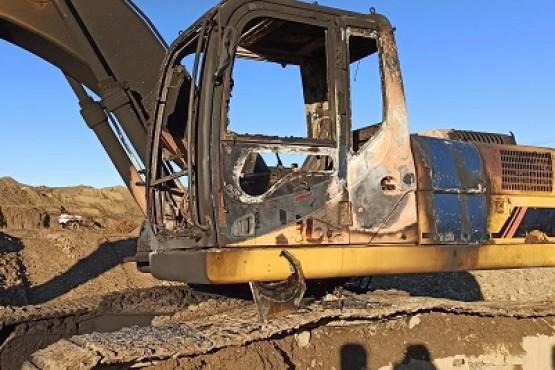 La máquina quedó destruida totalmente.