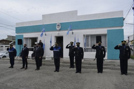 El acto se realizó en la parte externa de Bienestar Policial.
