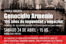 Charla abierta sobre el Genocidio Armenio