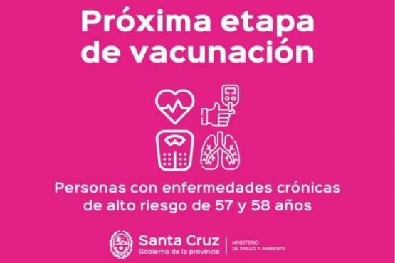 Vacunar para prevenir: Habilitarán turnos para personas de 57 y 58 años con enfermedades graves