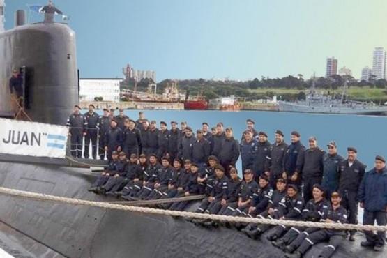 Los 44 tripulantes del submarino ARA San Juan.