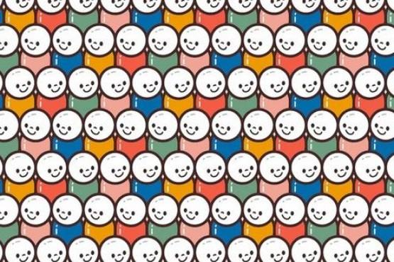 Ubica los rostros distintos en el presente acertijo viral