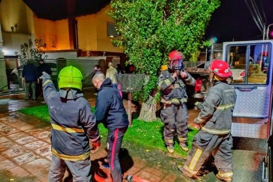 Incendio en una vivienda de Río Gallegos (Foto: C.G)